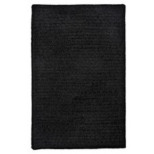 Simple Chenille Black Rug