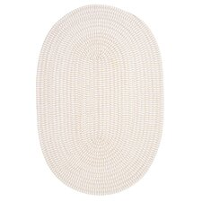 Ticking Stripe Oval Canvas Rug