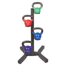 10-20 lb Vinyl Kettlebell Set with Rack