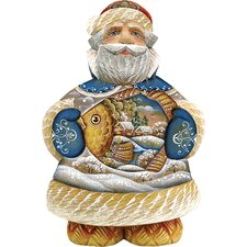 <strong>G Debrekht</strong> Derevo Into The Village Santa Figurine