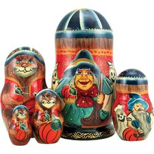 <strong>G Debrekht</strong> Russia 5 Piece Halloween Nested Doll Set