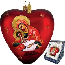 <strong>G Debrekht</strong> Mary and Jesus Heart Ornament