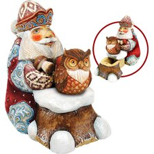 Derevo Saving Up Winter Owl Santa Box