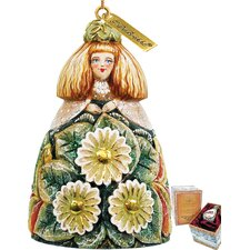 Sunflower Girl Bell Ornament