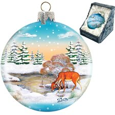 Winter Raindeer Ball Ornament