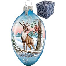 Reindeer Egg Ornament