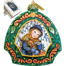 Girl with Deer Ornament
