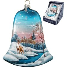 Winter Deer Bell Ornament