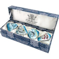 4 Piece Small Winter Ornament Set