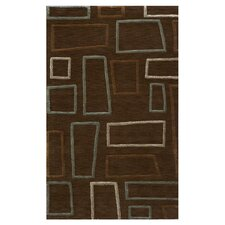 Sensations Geometric Brown Area Rug
