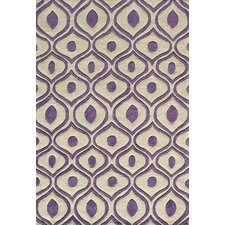 Bliss Purple Tufted Rug