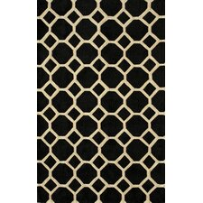 Bliss Black Tufted Area Rug