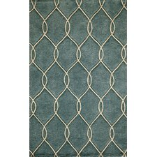 Bliss Teal Tufted Rug