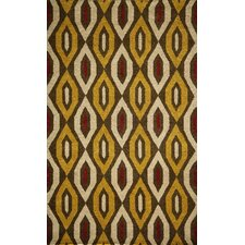 Habitat Gold/Yellow Geometric Tufted Area Rug