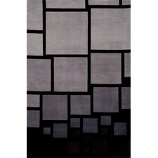 New Wave Black/Gray Area Rug