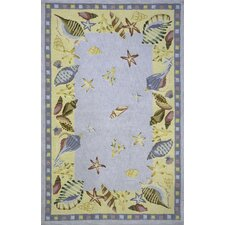 Coastal Shells Novelty Rug