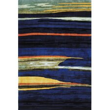 New Wave Navy Area Rug