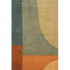 New Wave Green Area Rug