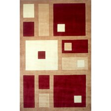 New Wave IV Red Area Rug
