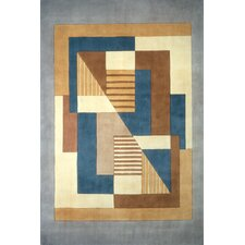 New Wave IV Blue/Brown Area Rug