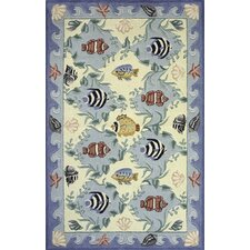 <strong>Momeni</strong> Coastal Blue Novelty Rug