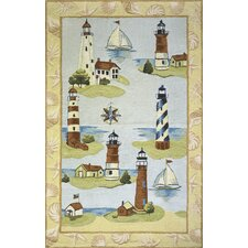 <strong>Momeni</strong> Coastal Assorted Lighthouse Novelty Rug