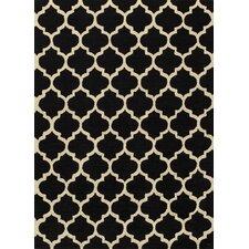 Geo Black Floral / Ethnic Rug