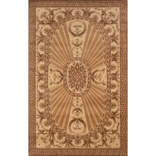 Harmony Light Brown Floral Area Rug