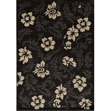 Dream Charcoal Floral Area Rug