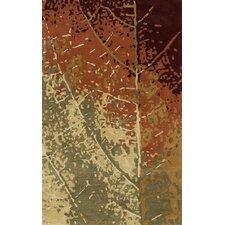 Impressions Leaf Brown Area Rug