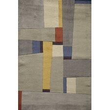 New Wave Yellow Area Rug