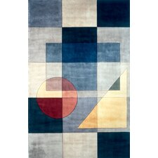 New Wave Blue Area Rug
