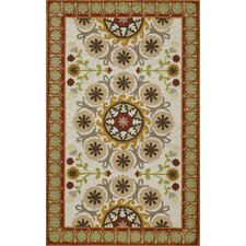 Suzani Hook Red Rug