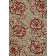 Summit Bold Floral Coral Area Rug