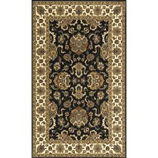 Persian Garden Black/White Area Rug