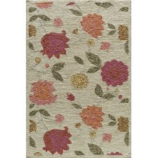 Summit Oatmeal  Bold Floral Rug