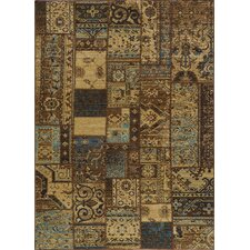 Vintage Light Blue Patchwork Rug