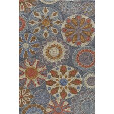 Summit Blue Bold Floral Rug