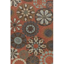 Summit Bold Floral Terracotta Area Rug