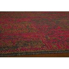 Vintage Raspberry Patchwork Rug