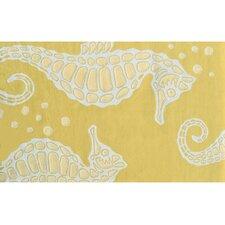 Seahorse Yellow Novelty Rug