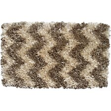 Shaggy Raggy Natural Chevron Rug