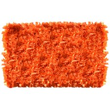Shaggy Raggy Neon Orange Rug