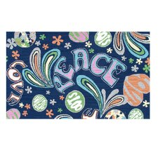 Sock-It-To-Me Blue Kids Rug