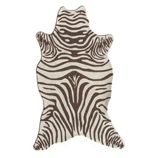 Resort Brown Zebra Shaped Outdoor Rug