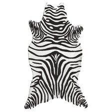 Resort Black Zebra Shaped Rug