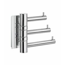 Pool Swing Arm Triple Hook in Polished Chrome