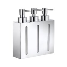Outline Three Containers Soap and Lotion Dispenser in Polished Chrome