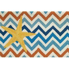 Starfish On Chevron Rug
