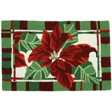 Painted Poinsettias Rug